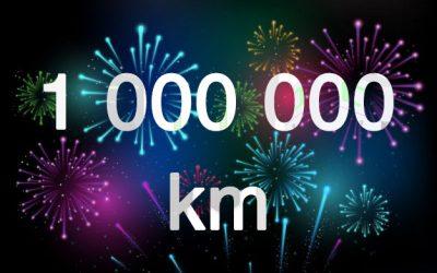 1 million de km rechargé sur les bornes et les PARASOL DRIVECO