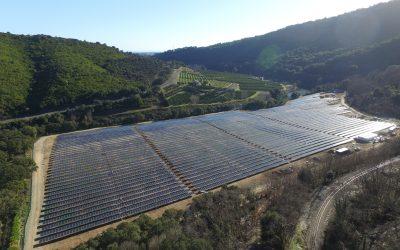Mise en service de la centrale au sol à Giurone en Corse